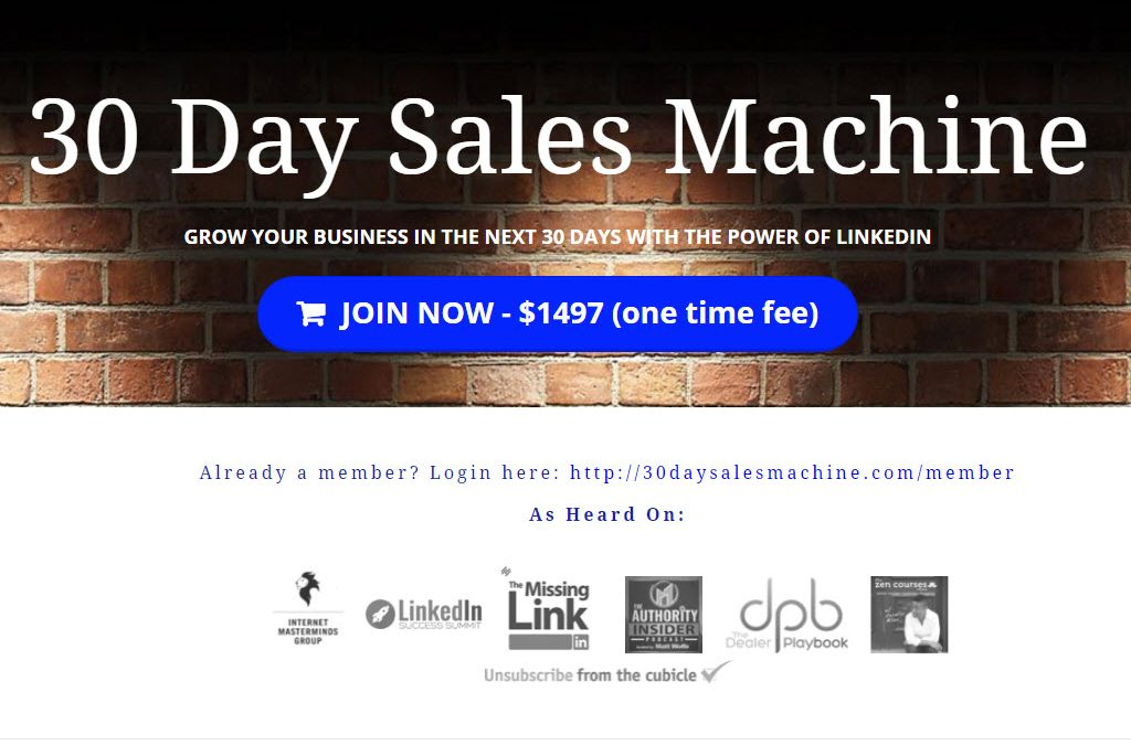 30 Day Sales Machine